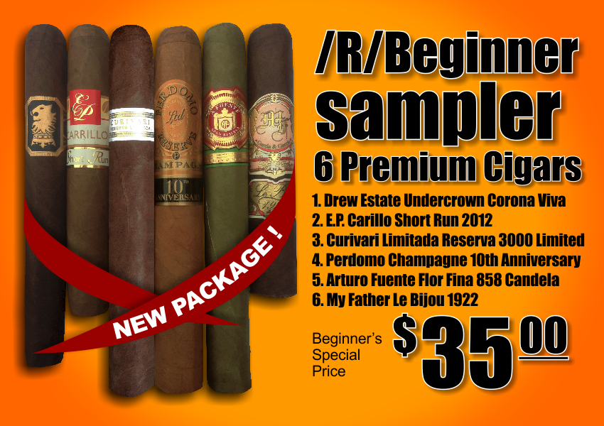 /R/Beginner Sampler | 6 Premium Cigars