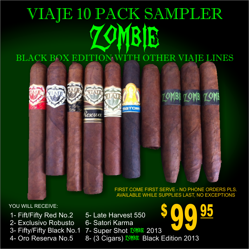 Zombie box and Sampler packs are available now, while supplies last.Thank you! First come first serve.